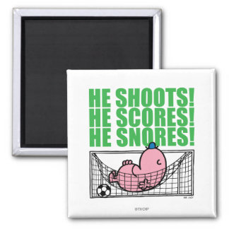 Mr. Lazy Napping In A Soccer Goal Magnet