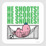 Mr. Lazy Napping In A Soccer Goal Square Sticker