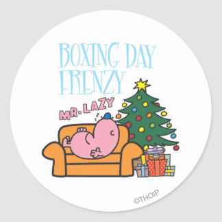 Mr. Lazy Resting On A Couch Classic Round Sticker