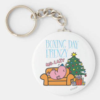 Mr. Lazy Resting On A Couch Basic Round Button Keychain