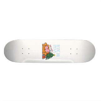 Mr. Lazy Resting On A Couch Skateboard Deck
