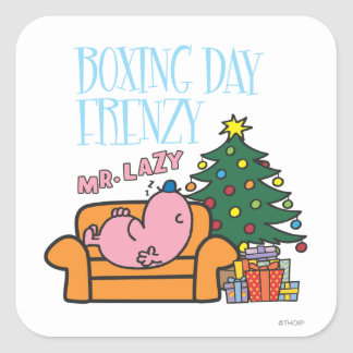 Mr. Lazy Resting On A Couch Square Sticker