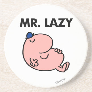 Mr. Lazy Snoozing Away Drink Coaster