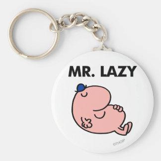 Mr. Lazy Snoozing Away Keychain