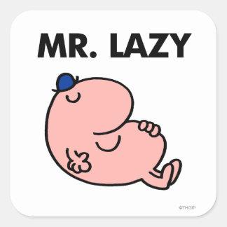 Mr. Lazy Snoozing Away Square Sticker