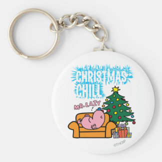 Mr. Lazy's Christmas Chill Basic Round Button Keychain