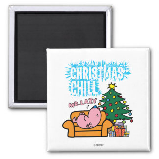 Mr. Lazy's Christmas Chill Magnet