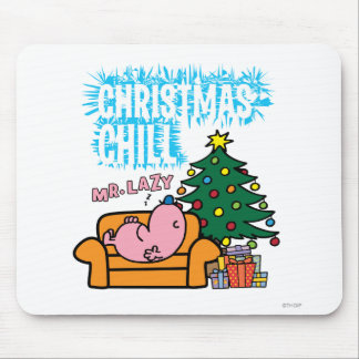 Mr. Lazy's Christmas Chill Mouse Pad