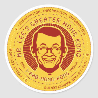 Mr. Lee's Greater Hong Kong Classic Round Sticker