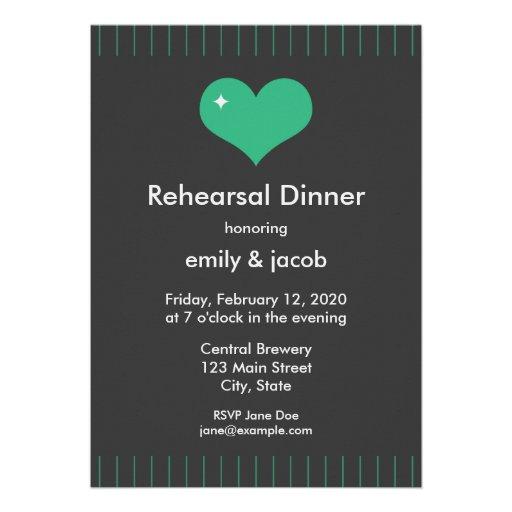 Mr Loves Mrs Rehearsal Dinner Announcement
