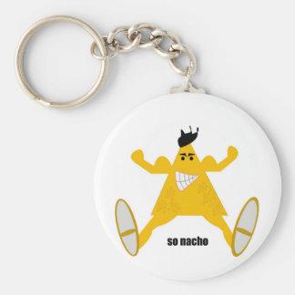Mr Macho Nacho Basic Round Button Keychain