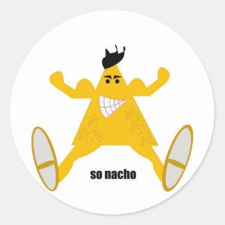 Mr Macho Nacho Classic Round Sticker