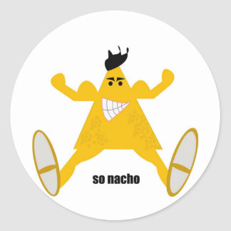 Mr Macho Nacho Round Stickers