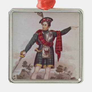 Mr Macready in the role of Rob Roy Macgregor Christmas Tree Ornaments