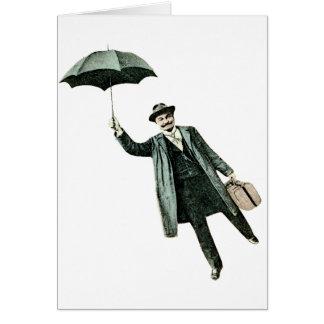 Mr. Magic & his flying Umbrella Card