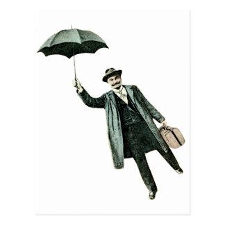 Mr. Magic & his flying Umbrella Postcard