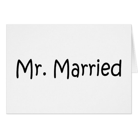 Mr. Married (Blk) Card