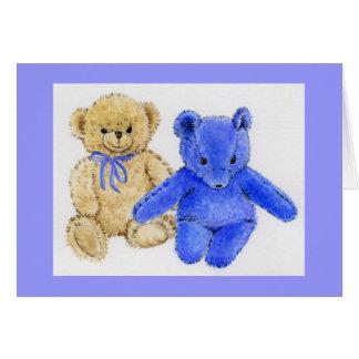 """""""Mr. McCuddles and Blue Bear"""" Card"""