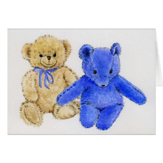 """Mr. McCuddles and Blue Bear"" Greeting Cards"