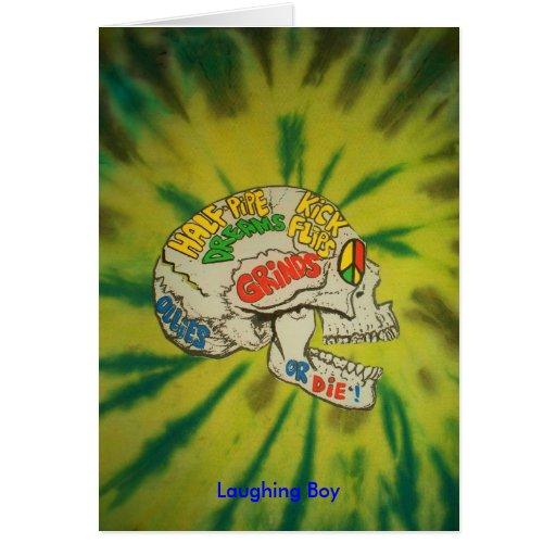 Mr. Mean Tie Died 2, Laughing Boy Greeting Card