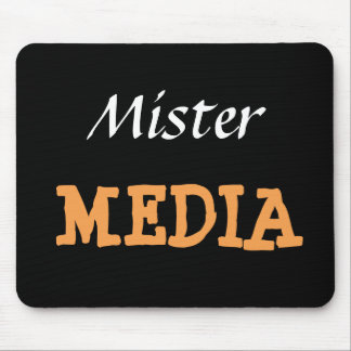 Mr Media Male Journalist Editor Funny Nickname Mouse Pad