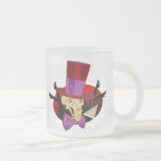 Mr. Memento Mori at the Velvet Lounge! Frosted Glass Coffee Mug