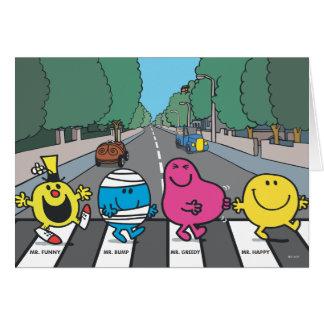 Mr. Men Abbey Road Walkers Card