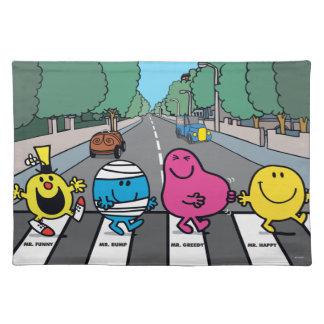 Mr. Men Abbey Road Walkers Cloth Placemat