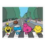 Mr. Men Abbey Road Walkers Postcard