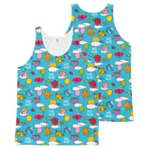 Mr Men & Little Miss | Birds & Balloons In The Sky All-Over-Print Tank Top