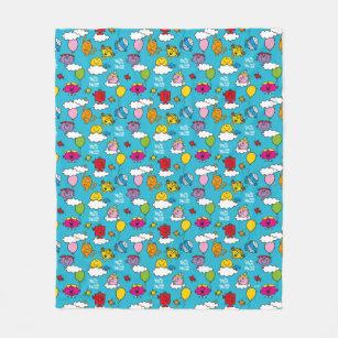 Mr Men Little Miss Birds Balloons In The Sky Fleece Blanket