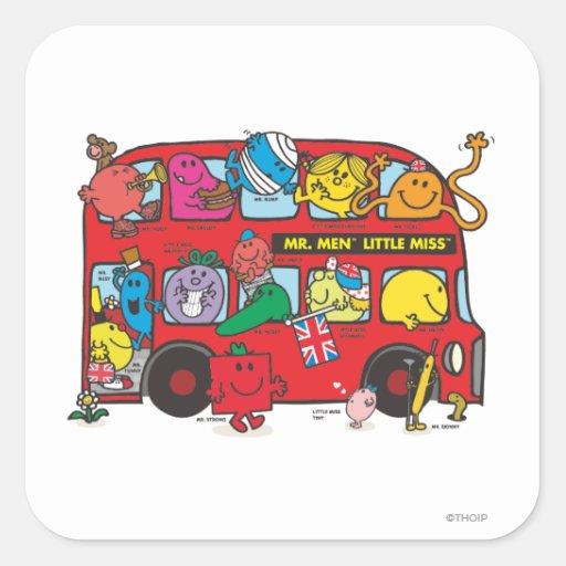 Mr Men & Little Miss Bus Sticker