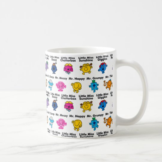 LITTLE MISS MR MEN LITTLE MISS BUSY TAPERED COFFEE MUG CUP NEW IN GIFT BOX