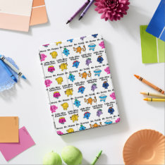 Mr Men & Little Miss | Character Names Ipad Air Cover at Zazzle