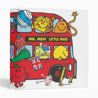 Mr. Men & Little Miss Crowded Bus 3 Ring Binder