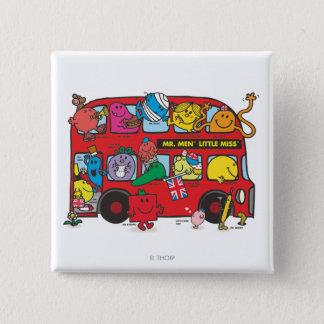 Mr. Men & Little Miss Crowded Bus Button