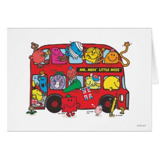 Mr. Men & Little Miss Crowded Bus Card