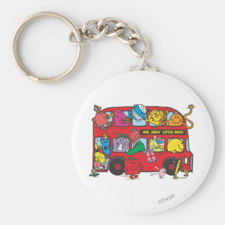 Mr. Men & Little Miss Crowded Bus Keychain