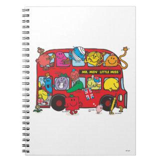 Mr. Men & Little Miss Crowded Bus Notebook
