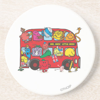 Mr. Men & Little Miss Crowded Bus Sandstone Coaster