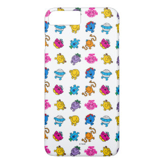 Mr Men & Little Miss | Dancing Neon Pattern iPhone 7 Plus Case