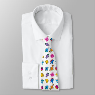 Mr Men & Little Miss | Dancing Neon Pattern Tie