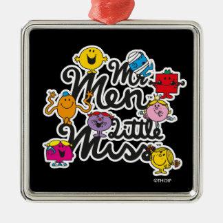 Mr. Men Little Miss   Group Logo Metal Ornament
