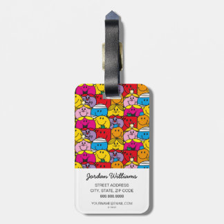 Mr Men & Little Miss | In A Crowd Pattern Luggage Tag