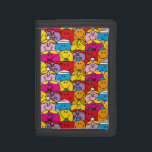 """Mr Men &amp; Little Miss   In A Crowd Pattern Tri-fold Wallet<br><div class=""""desc"""">If you are having a difficult time choosing a single Little Miss character to place on a Zazzle product you are in luck! This great design features a number of the Roger Hargreaves created characters.</div>"""