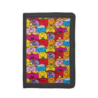 Mr Men & Little Miss   In A Crowd Pattern Tri-fold Wallet