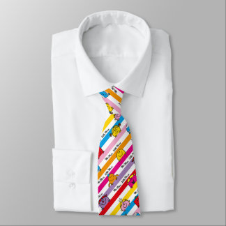 Mr Men & Little Miss | Rainbow Stripes Pattern Neck Tie