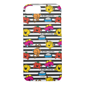 Mr Men & Little Miss | Stripes Pattern iPhone 8/7 Case