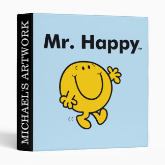 Mr. Men | Mr. Happy Is Always Happy 3 Ring Binder
