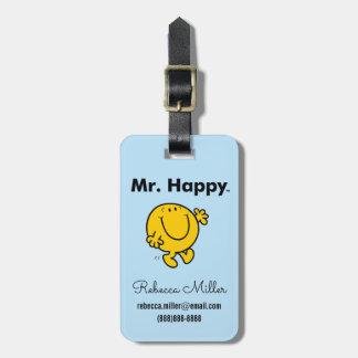 Mr. Men | Mr. Happy Is Always Happy Luggage Tag